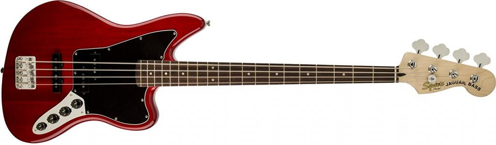 Squier by Fender 328900538 Vintage Modified Jaguar Bass Special, Rosewood Fingerboard, Crimson Red Transparent
