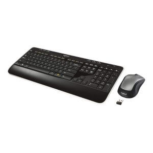 Logitech MK520 Wireless Keyboard and Mouse Combo — Keyboard and Mouse, Long Battery Life, Secure 2.4GHz Connectivity