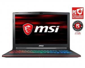 MSI GP63 Leopard-602 (8th Gen Intel Core i7-8750H, 8GB DDR4 2666MHz, 1TB HDD, Nvidia GeForce GTX 1060 6GB, 15.6 Full HD 120Hz 3ms Display, Windows 10 Home) VR Ready Gaming Laptop