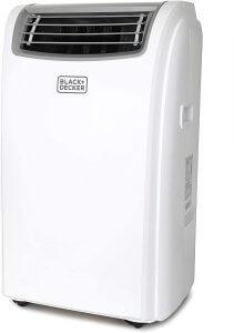 Black + Decker 7,500 BTU Portable Air Conditioner with Heat, 14,000 w, White