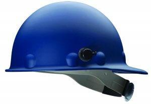 Fibre-Metal by Honeywell P2AQRW71A000 Super Eight Fiber Glass Cap Style Ratchet Hard Hat with Quick-Lok, Blue
